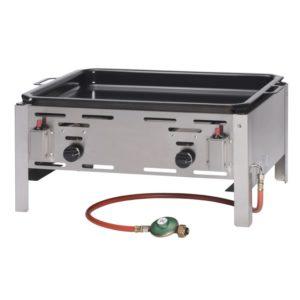 Smažící plynová pánev, 650x540x300 mm | HENDI, 154618 Bake Master Maxi z nerezové oceli, elektronické zapalování. V ceně: smaltovaná pánev (590×480mm).