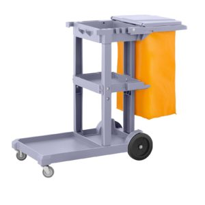 Úklidový vozík s pytlem na prádlo a krytem - 1