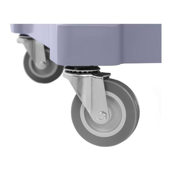 Úklidový vozík s pytlem na prádlo a krytem - 4