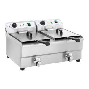 Dvojitá elektrická fritéza - 2 x 16 litrů s vypouštěcím kohoutem - 1