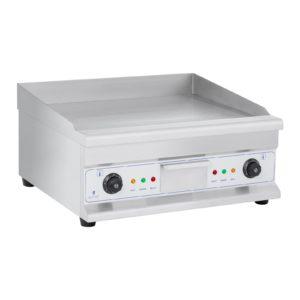Dvojitá elektrická grilovací deska - 60 cm - 2 × 3 200 W, s nastavitelnou pracovní teplotou 50 - 300°C, 2 samostatné teplotní zóny.
