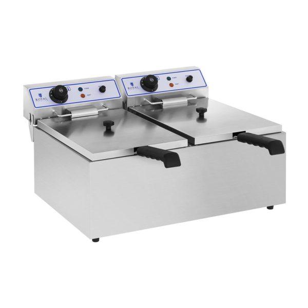 Elektrická fritéza - 2 x 17 Litrů – s podstavcem - 2