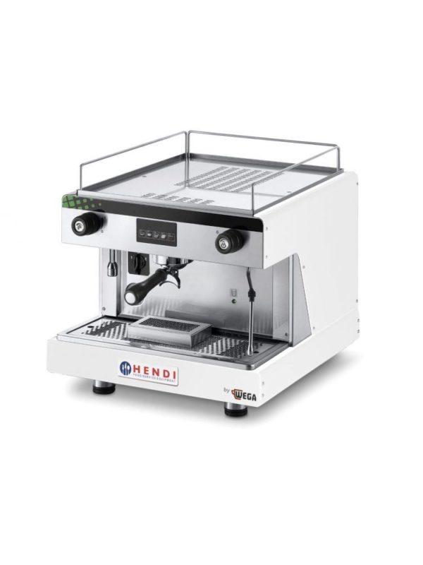 Espresso kávovar, bílý HENDI, Top Line By Wega - 1 délka: 530 mm šířka: 555 mm výška: 515 mm materiál: nerezová ocel příkon: 2.9 kW váha: 48 kg