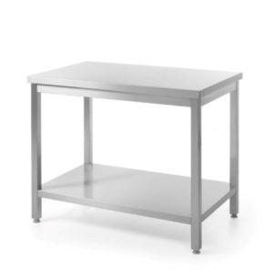 Nerezový pracovní stůl, centrální s policí - montovaný 1000x600x850 mm HENDI, Bistro Line - 1