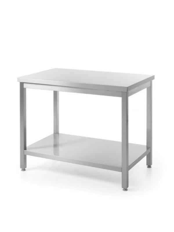 Nerezový pracovní stůl, centrální s policí - montovaný 1400x600x850 mm HENDI, Bistro Line - 1