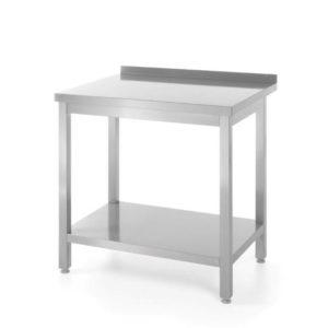 Nerezový pracovní stůl, přístěnný s policí - montovaný, 1600x600x850 mm HENDI, Bistro Line - 1
