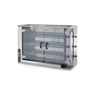Plynový gril pro 12-15 kuřat HENDI, 226070 - 1 délka: 1150 mm šířka: 472 mm výška: 795 mm napájení: plynové prosklené dveře: Ano materiál: nerezová ocel, sklo
