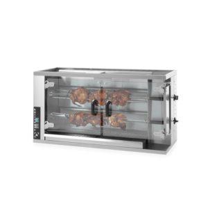 Plynový gril pro 8-10 kuřat HENDI, 226063 - 1 délka: 1150 mm šířka: 472 mm výška: 605 mm napájení: plynové prosklené dveře: Ano materiál: nerezová ocel