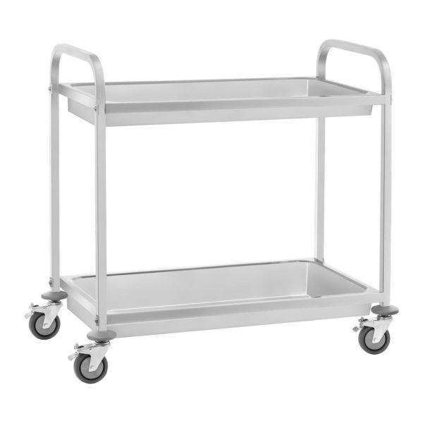 Servírovací vozík - 2 hluboké police - do 100 kg - 2 brzdy - 1
