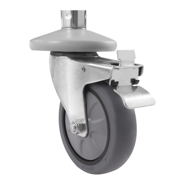 Servírovací vozík z ušlechtilé ocele - 3 police - do 150 kg - 2 brzdy - 5