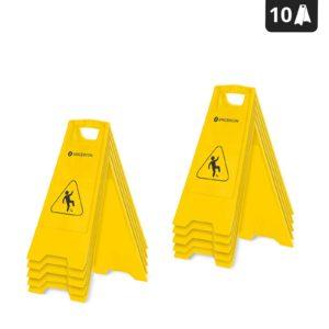 Výstražná tabulka - Nebezpečí uklouznutí - 10dílná sada - 1