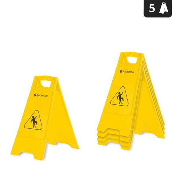 Výstražná tabulka - Nebezpečí uklouznutí - 5dílná sada .- 1
