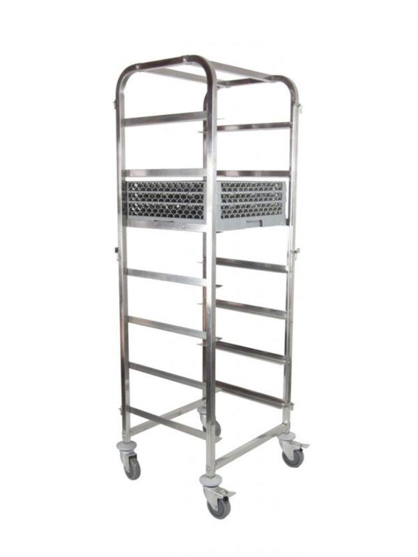 Vozík pro transport košů do myčky nádobí 7x 500x500 mm HENDI, 810583 - 1