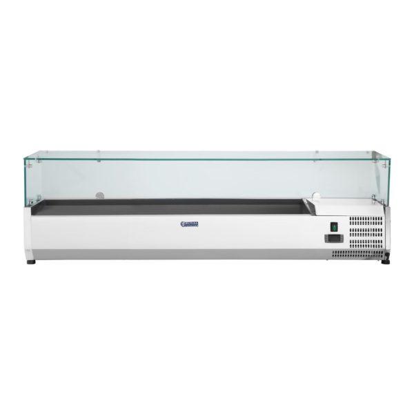 Chladicí nástavba - 150 x 33 cm - 7 GN nádob 14 - skleněný zákryt - 2