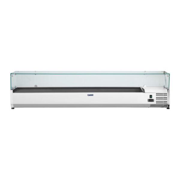 Chladicí nástavba - 200 x 33 cm - 10 GN nádob 14 - skleněný zákryt - 2