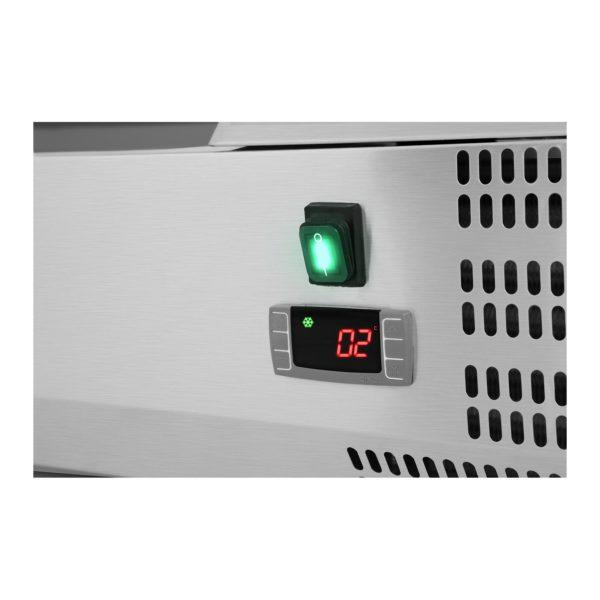 Chladicí nástavba - 200 x 33 cm - 10 GN nádob 14 - skleněný zákryt - 3