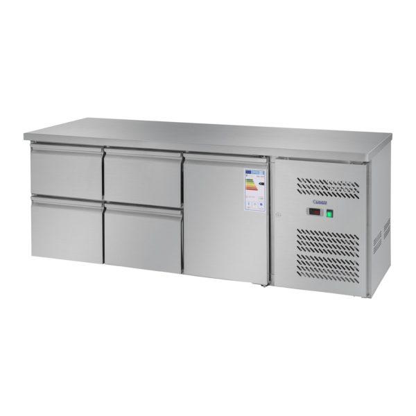Chladicí stůl - 403 l - 1 dveře - 4 zásuvky - 1