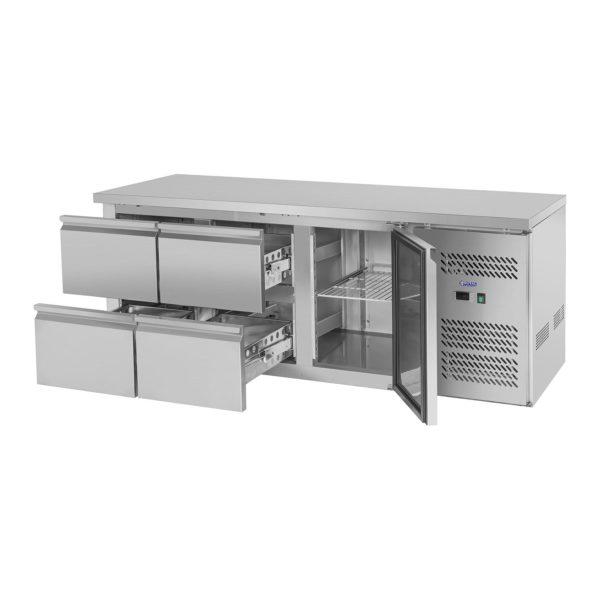 Chladicí stůl - 403 l - 1 dveře - 4 zásuvky - 2