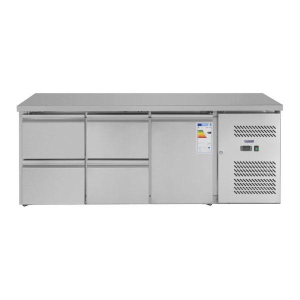 Chladicí stůl - 403 l - 1 dveře - 4 zásuvky - 3
