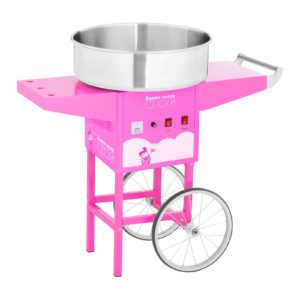 Stroj na cukrovou vatu s vozíkem - 52 cm - 1 200 W - růžový 1