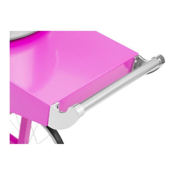 Stroj na cukrovou vatu s vozíkem - 52 cm - 1 200 W - růžový 2