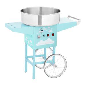 Stroj na cukrovou vatu s vozíkem - 52 cm - 1 200 W - tyrkysový 1
