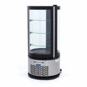 Maxima chladící vitrína kulatá - 100 l - černá | 09400841