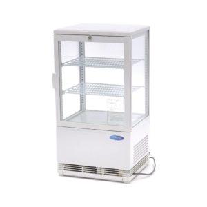 Maxima chladící vitrína s displejem - 58 l - bílá | 09400800