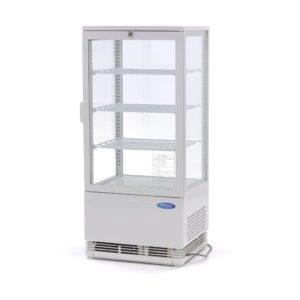 Maxima chladící vitrína s displejem - 78 l - bíla | 09400805