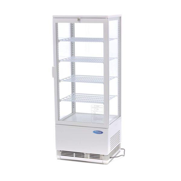 Maxima chladící vitrína s displejem - 98 l - bíla   09400810