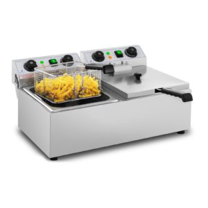 Elektrická fritéza - 2 x 10 litrů - časovač - 230 V- 1