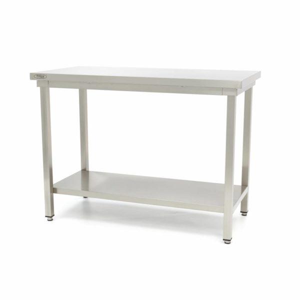 Pracovní stůl - Deluxe - 2000x700 mm | Maxima 09364021 z nerezavějící oceli je robustní stůl se silnou pracovní deskou z nerezavějící oceli