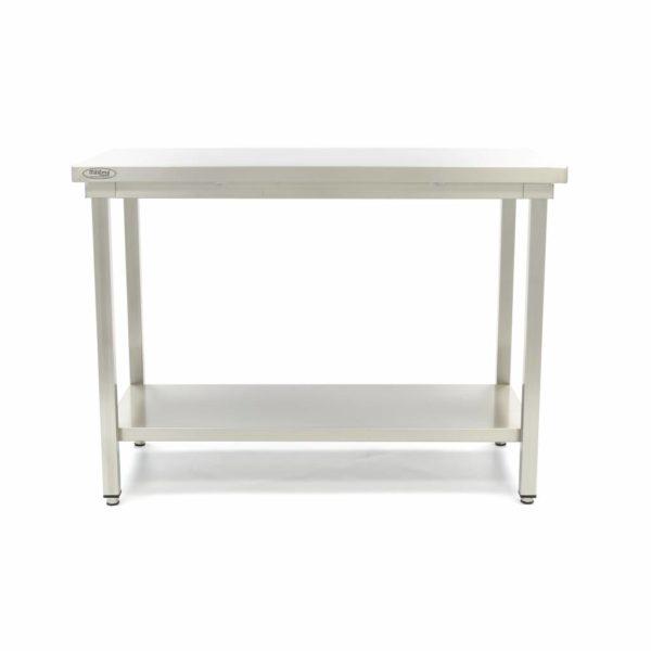 Pracovní stůl - Deluxe - 800x700 mm   Maxima 09364003 z nerezavějící oceli je robustní stůl se silnou pracovní deskou z nerezavějící oceli.