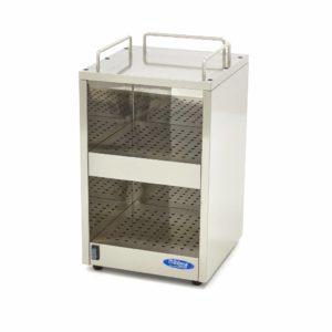 Skleněný ohřívač šálků | Maxima 09362030 má dostatek prostoru pro 72 sklenic rozdělených na 2 patra. Je možné dosáhnout teploty až 65 ° C