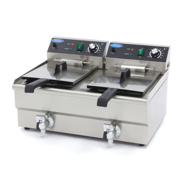 Elektrická fritéza s kohoutkem - 2x13 l Maxima 09365231