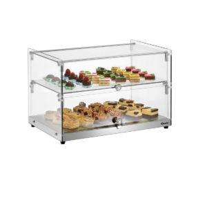 Skleněná vitrína 5400 - nechlazená | Bartscher 700356